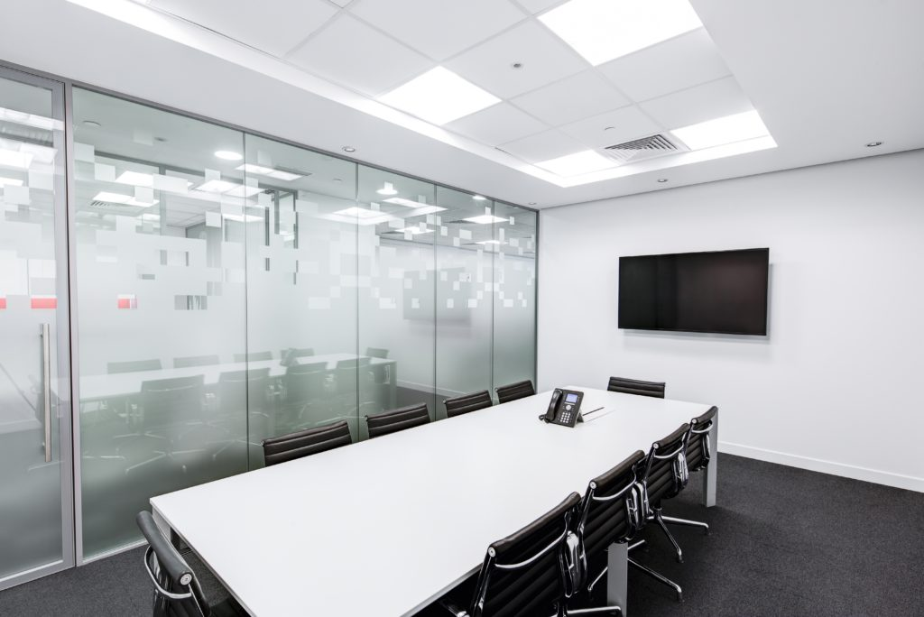 Hire a professional cleaner to keep your office sparkling clean.