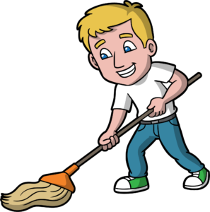 How often should I hire a professional cleaner to mop my floors and clean my home or office.